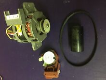 OEM KENMORE WHIRLPOOL WASHER MOTOR START CAP AND BELT   W10006415 SEE PI