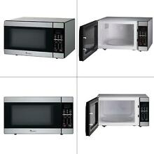 1 8 cu  ft  countertop microwave in stainless steel   magic chef oven with new
