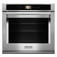 KitchenAid Smart Oven 30  Stainless Steel Single Convection Wall Oven KOSE900HSS
