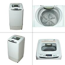 Compact 0 9 cu ft  portable top load washer in white   magic chef led display