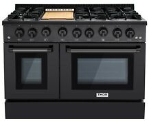 48  THOR Gas Double Oven Stainless Convection Griddle 6 Sealed Burner Range New