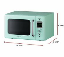 Daewoo KOR 7LREM Retro Countertop Microwave Oven0 7Cu Ft 700W Mint Compact small