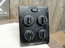 Jenn Air   Control Unit w 5 switches and knobs    Black   One Speed