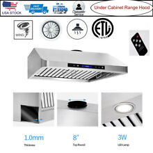 Stainless Steel Under Cabinet Range Hood Stove Vent Extractor Kitchen w  Remote