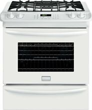 Frigidaire Gallery 30  Slide in White Gas Range Convection Oven FGGS3065PW