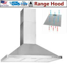 36 in Stainless Steel Wall Mount Range Hood Stove Vented Extractor Hood Kitchen
