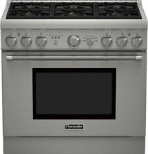 Thermador 36  Pro Harmony Stainless Steel Dual Fuel Range   PRD366GH