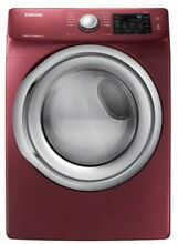 Samsung DVG45N5300F 37  Red Front Load Gas Dryer Brand New