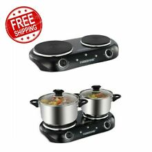 Electric Stove Top High Powered 2 Burners Range Cooktop Kitchen Appliance New