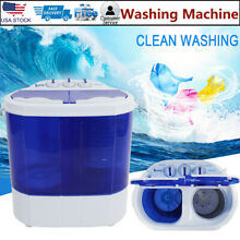 10 4 Lbs Compact lightweight Portable Washing Machine Washer w  Spin Cycle Dryer