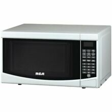 RCA Small Compact White Microwave Oven LCD Display Dorm RV Studio NEW