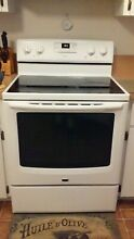 Maytag Electric 30  Range Stove 5 Burners Speed Heat Lg  Oven Dual Choice Burner