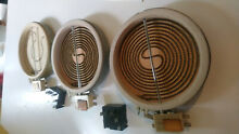 Frigidaire Kenmore Range Oven Bake Element and switch lot parts