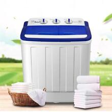 16Lbs Portable Mini Twin Tub Compact Washing Machine Washer Spin Dryer W  Hose