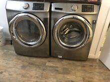 Samsung washer and dryer Gray