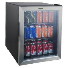 Whirlpool 2 7 Cu Ft Mini Refrigerator Beverage Center   Stainless Steel JC 75NZY