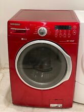 Samsung   3 9 Cu  Ft  11 Cycle High Efficiency Steam Front Loading Washer   Red