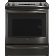GE  JS760BLTS 30  Slide In Electric Convection Range   Black Stainless Steel