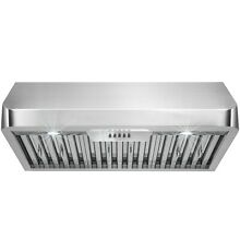 30  Stainless Steel Under Cabinet Classical Push Button Control Range Hood  Y