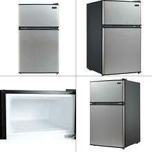 3 4 cu  ft  energy star stainless steel compact refrigerator freezer in bla