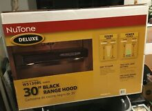 NuTone Deluxe Allure Series 30  Black Range Hood WS130BL NEW In Box