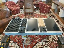 Jenn Air C316 Downdraft 3 bay cooktop stainless electric with grill
