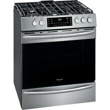 Frigidaire Stainless Gallery 30  Gas Front Control Freestanding Range FGGH3047VF