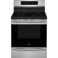Frigidaire Stainless Steel 30  Induction Electric Freestanding Range FGIF3036TF