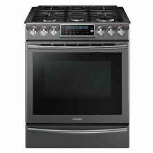 Samsung NX58K9500WG AA 5 8 cu  ft  Slide In Gas Range with Convection   Black S