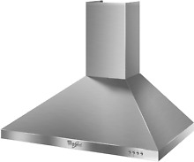 Whirlpool 30  Wall Mount Chimney Style Range Hood GXW7330DXS   Stainless Steel