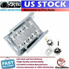 3398064 Dryer Heating Element Thermostat Kit Fuse for Whirlpool Kenmore Maytag