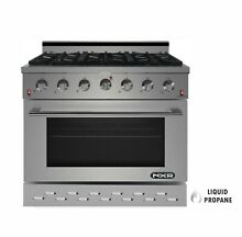 NXR SC3611LP 36  5 5 cu ft  Pro Style Propane Gas Range with Convection Oven