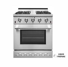 NXR SC3055LP 30  4 5 cu ft  Pro Style Propane Gas Range with Convection Oven