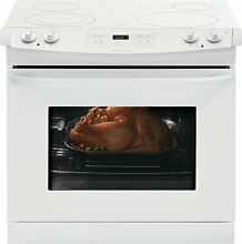 Frigidaire 30 Inch 4 6 Cu  Ft  Drop In White Electric Smoothtop Range FFED3025PW