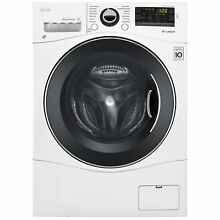 LG WM1388HW 2 3 cu  ft  Compact Front Load Washer w  NFC Tag On   White