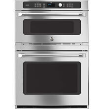 GE Cafe CT9800SHSS 30  Electric Double Wall Oven with Microwave   Stainless Ste