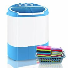 Portable Compact Washing Machine 1 34 Cu ft Spin Washer Drain Pump 8 Water Level