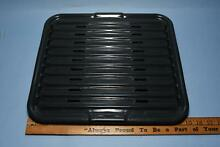 Vtg Gray Enameled Steel Oven Broiler Pan and Drip Tray