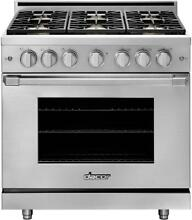 Dacor Professional 36  Stainless Steel Natural Gas Pro Range   HGPR36S NG