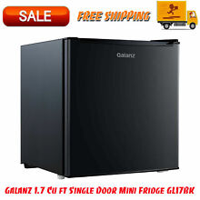 Mini Fridge Small Refrigerator Single Door Compact Dorm Home Office Garage Black