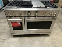 GE Monogram ZDP486NDPSS 48  Dual Fuel Pro Range with 6 Burners and Griddle