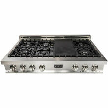 ZLINE 48  Rangetop w  7 Gas Cooktop Burners Grill  Stainless Steel  For Parts
