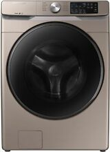 Samsung WF45R6100 Front Load Washer and DVE45R6100C Electric Dryer Champagne