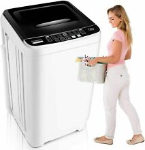 Full Automatic Washing Machine  2 in 1 Portable Washer for Home Dorm RVs