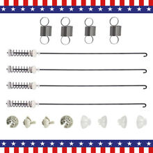4Pack W10780048 Washer Suspension Rod  W10400895 Suspension Spring Fit Whirlpool