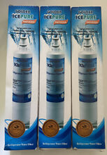 3 Golden Icepure Refrigerator Filters Whirlpool Kenmore 4396508 46 9010 RWF0500A