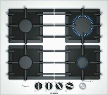 Bosch PPP6A2M90 Installation Gas Hob White 23 5 8in Autark Glass Cooktop
