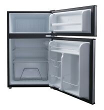 Mini Fridge Small Refrigerator Freezer Two Door Compact Stainless Cool 3 1 CU FT