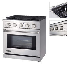 Professional 4 55 cuft Gas Range Cook Top LYCAN Made More Durable 4 6 Burners