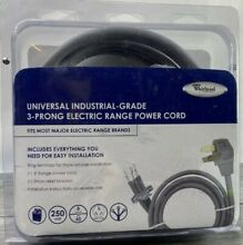 Whirlpool 8171385RC 4  40 Amp 3 Wire Range Power Cord New In Original Package